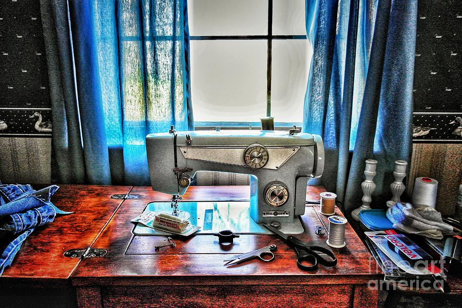 Barb's Sewing Room Photograph By John Myers Adorable Myers Sewing Machine