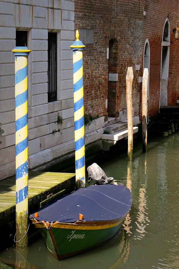 Boat Digital Art - Barca Blue by Italian Art