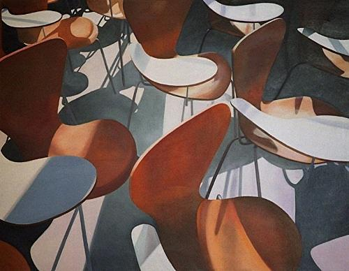 Barcelon Chairs Painting by Leone Holzhaus