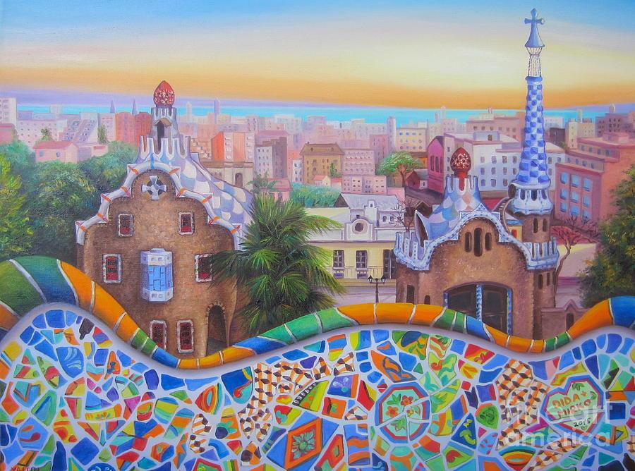 Cityscape Painting - Barcelona 2 by Elena Yalcin