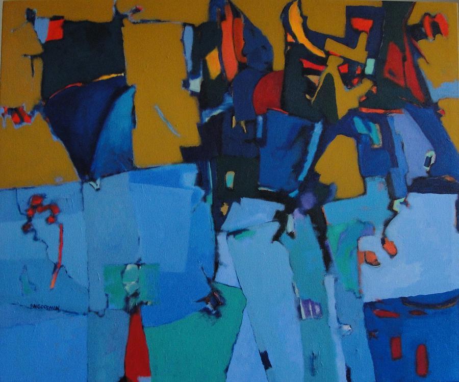 Abstract Painting - Barcelona by Bernard Goodman