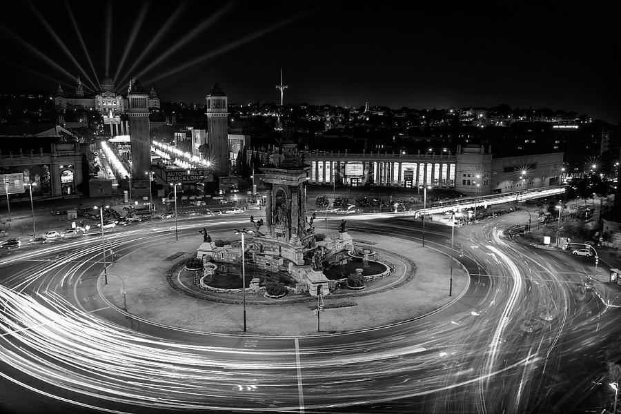 Barcelona City Lights Photograph