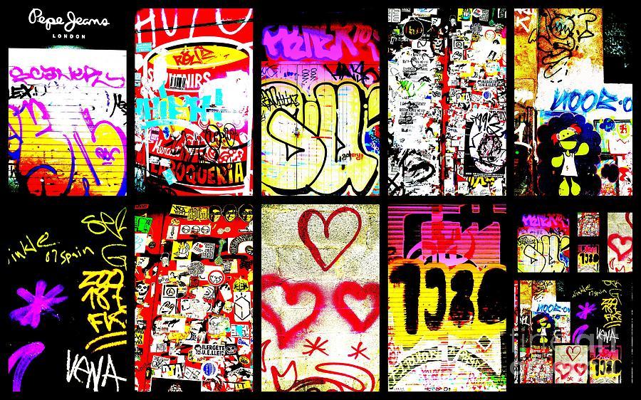 Barcelona Photograph - Barcelona Graffiti Wall  by Funkpix Photo Hunter