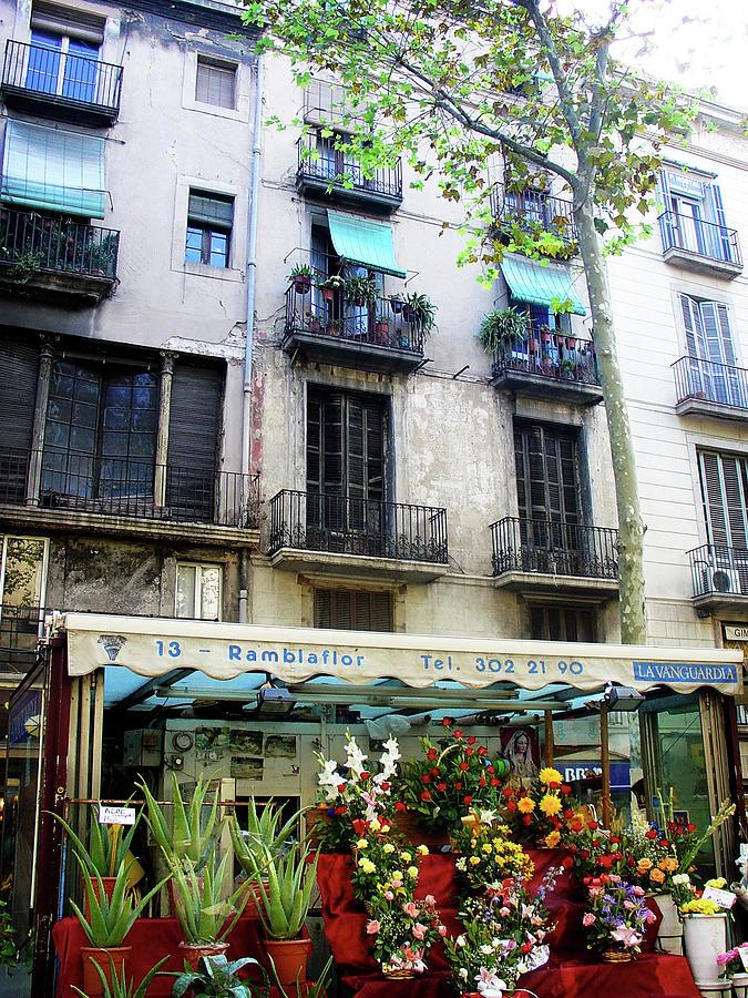 Street Scene Photograph - Barcelona Las Ramblas by Julie Palencia