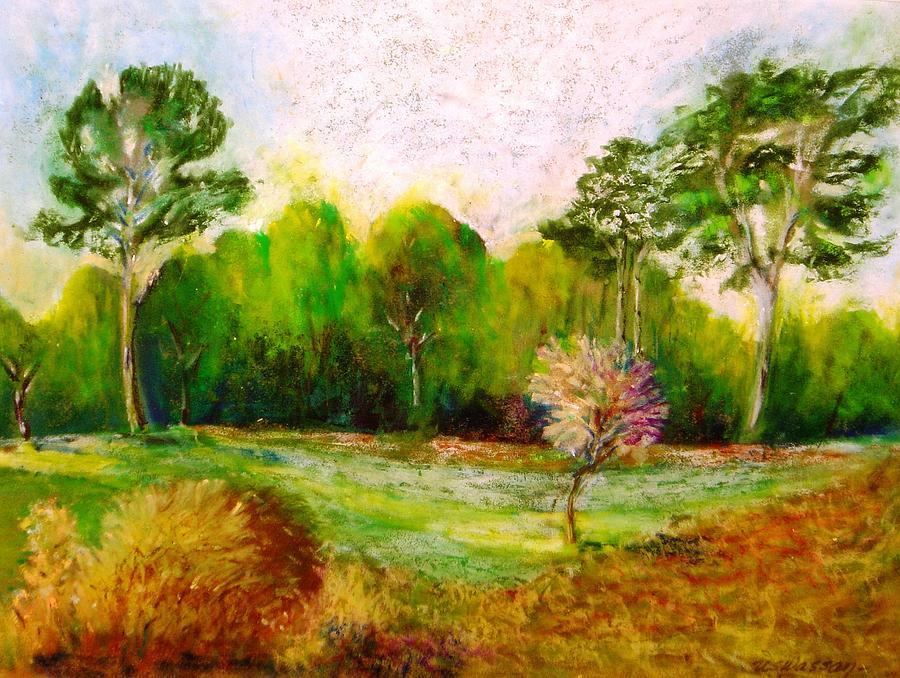Landscape Painting - Barcelona Spain by Ujjagar Singh Wassan