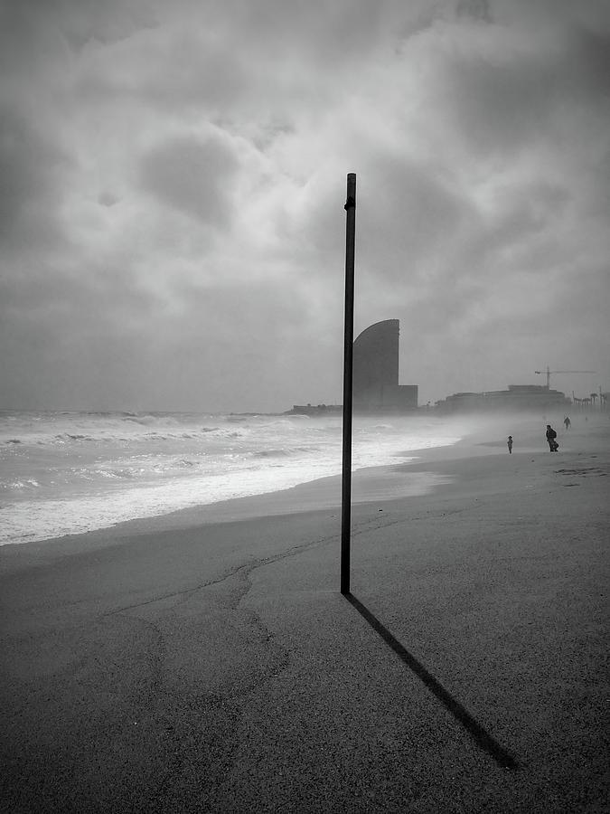 Barcelona Stormy Beach Photograph