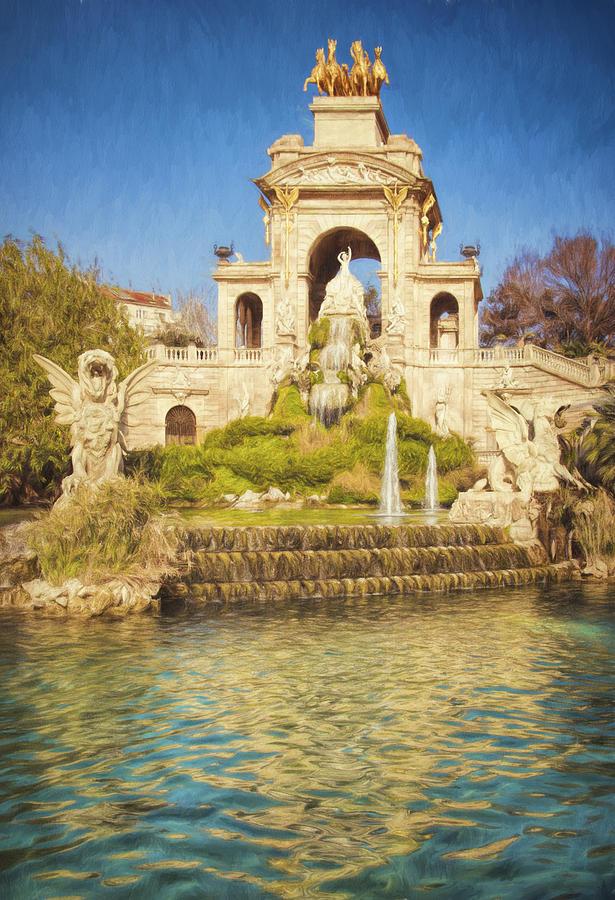 Barcelona Waterfall Photograph