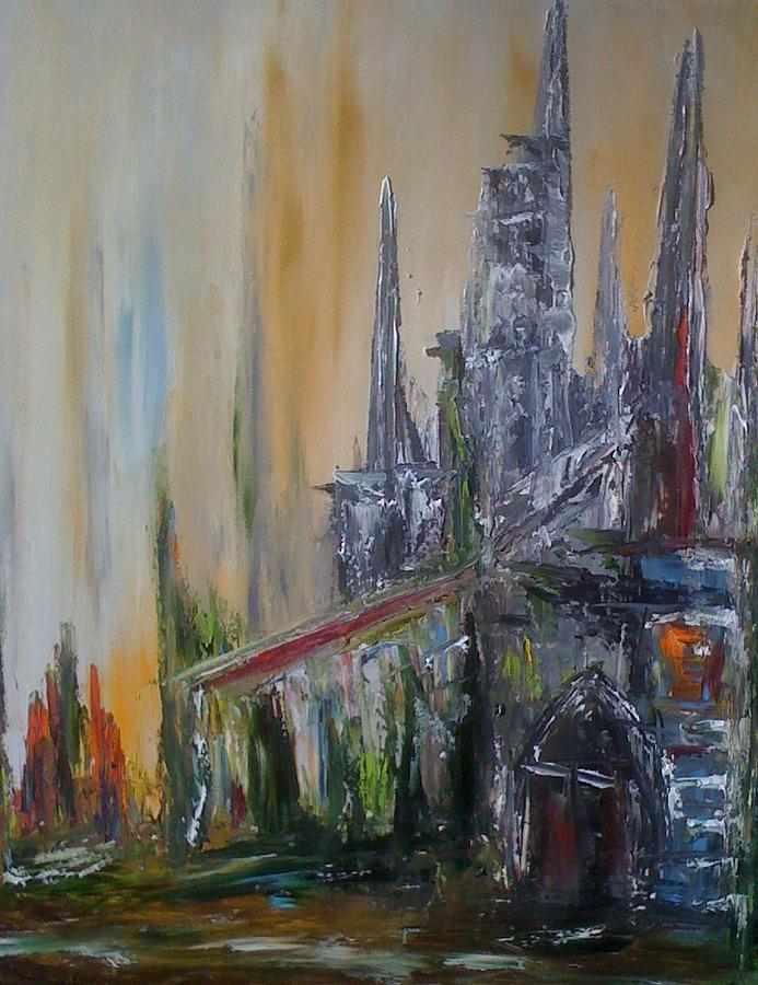 Barcelone Painting by Patrice Brunet