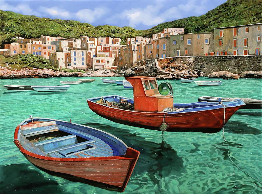 Barche Rosse E Blu Painting