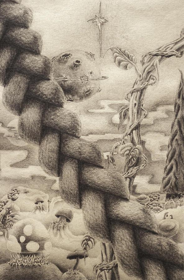 Planet Drawing - Bardos Playground by Sean Imler