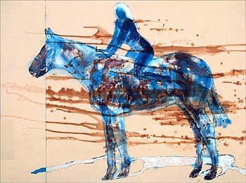 Figure Painting - Bareback Rider by Keith  Webb