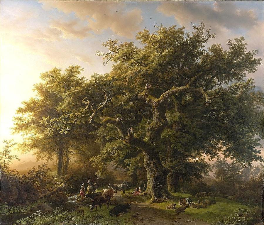 Koekkoek Painting - Barend Cornelis by Koekkoek