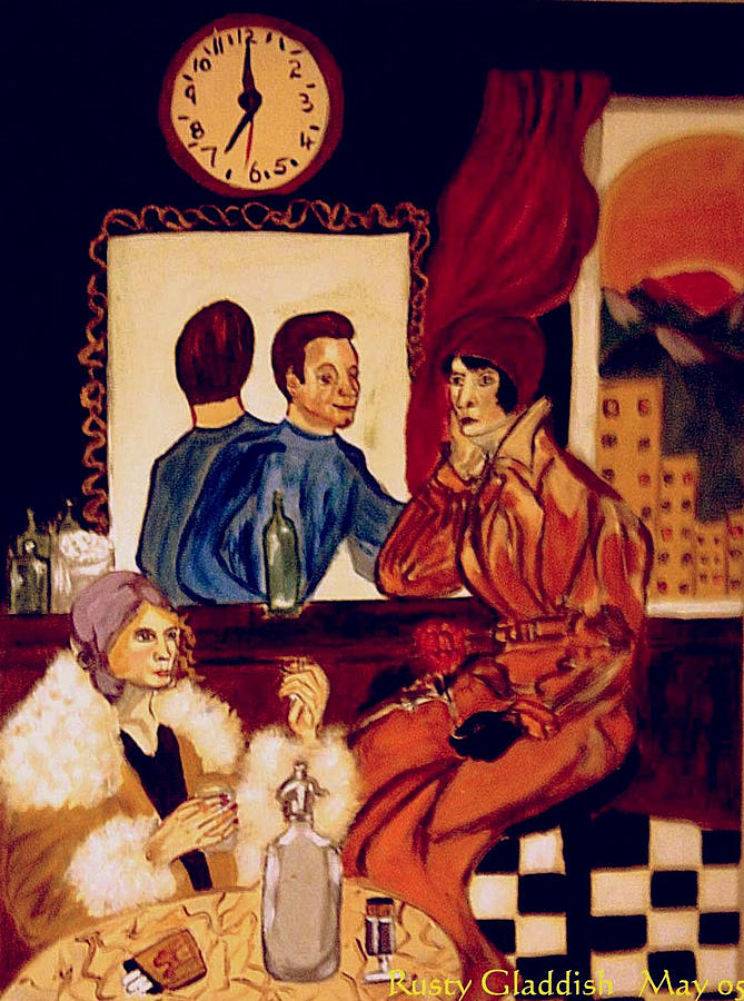 1920s Painting - Barflies by Rusty Gladdish