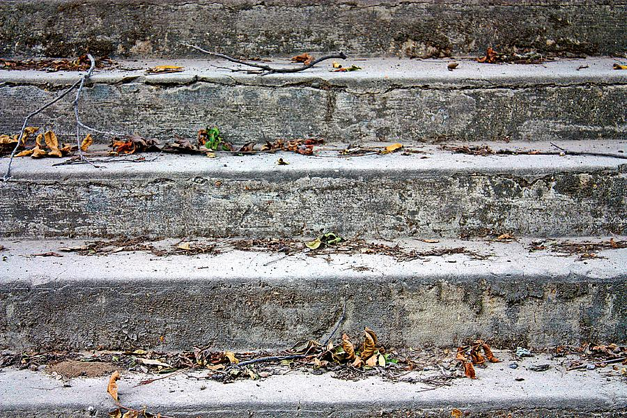 Barge Town Grocery Steps Photograph