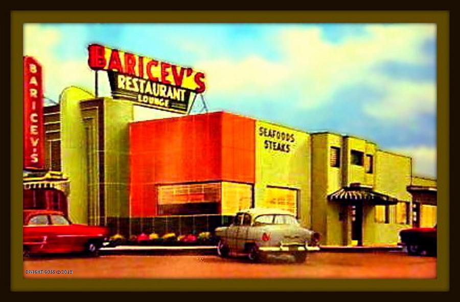Baricevs Restaurant Lounge Biloxi Ms 1954 By Dwight Goss