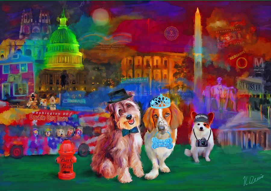 Washington Dc Digital Art - Bark Ball by Karen Derrico