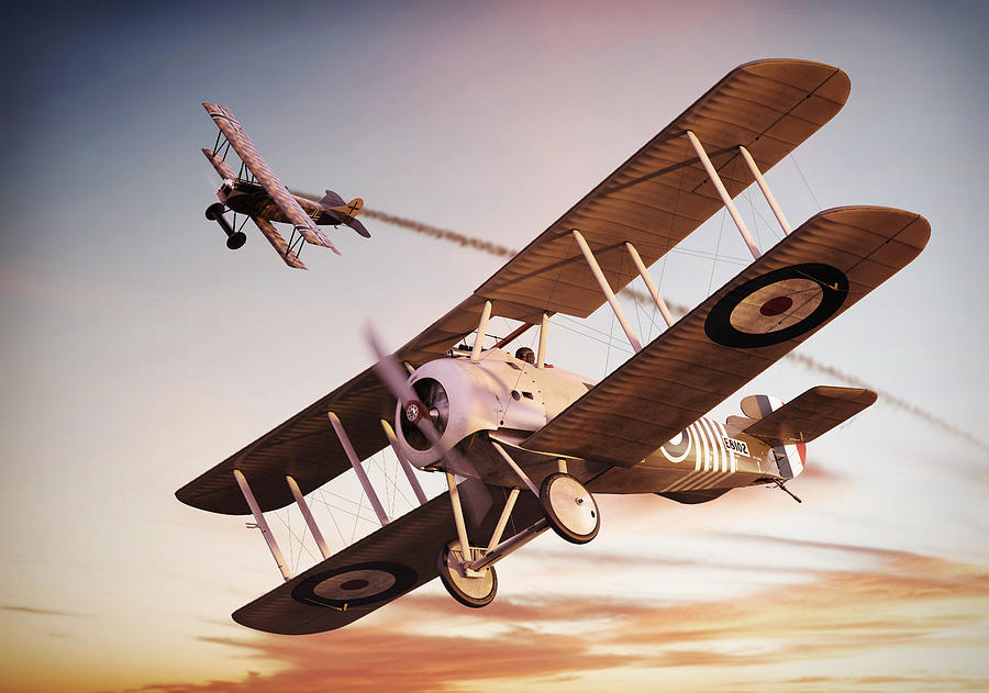 Sopwith Digital Art - Barkers Snipe by Gino Marcomini