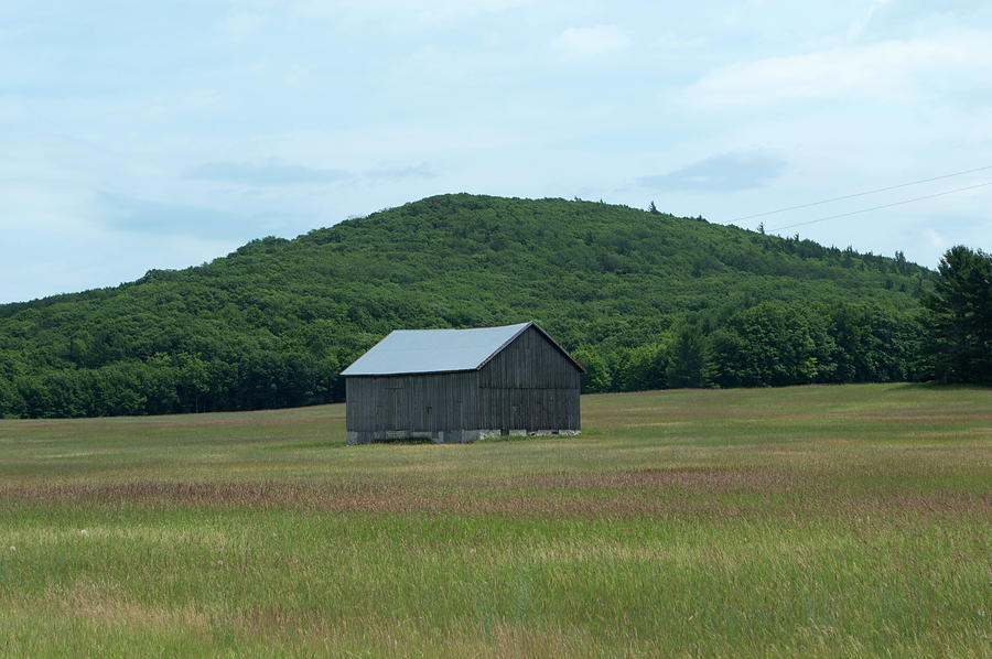Barn And A Hill Photograph