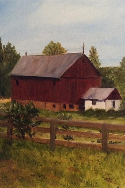 Barn And Milk House Painting