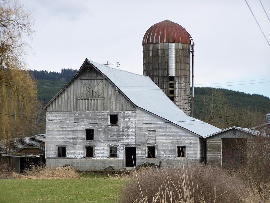 Nature Photograph - Barn And Silo by Laurie Kidd