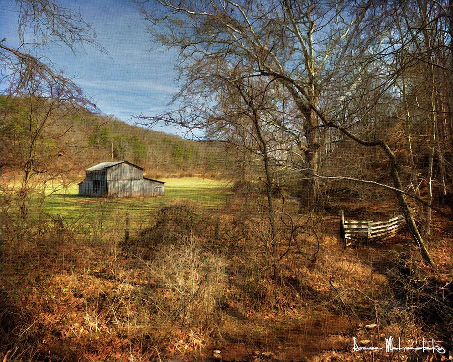 Barn and Stream by Roman Wilshanetsky