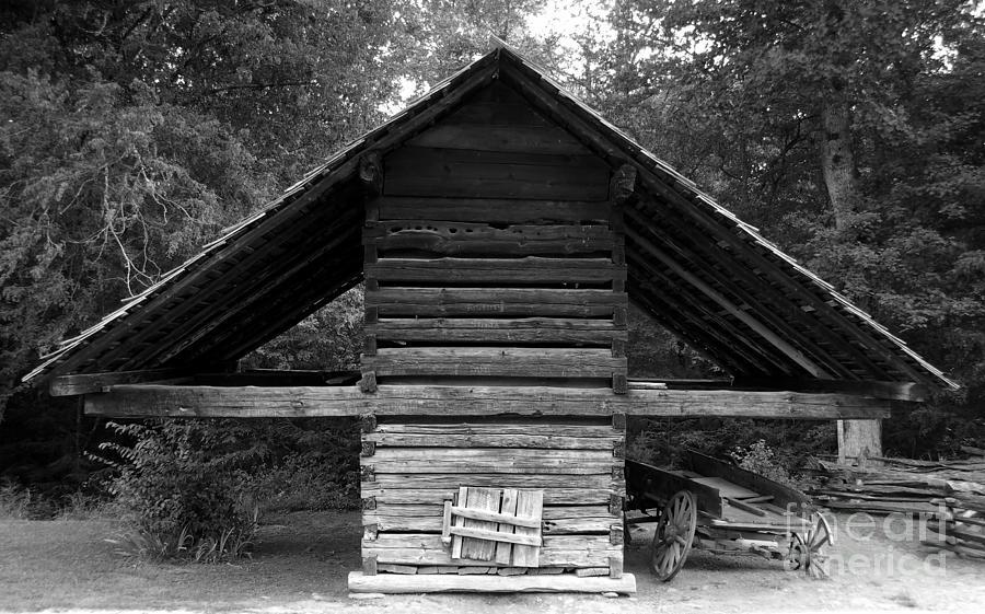 Barn Photograph - Barn And Wagon by David Lee Thompson