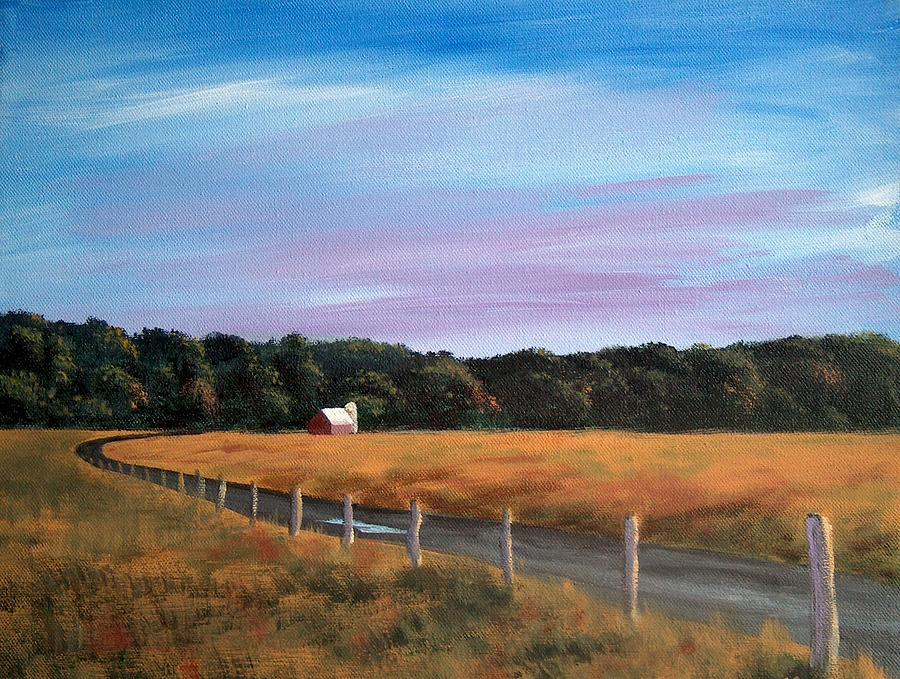 Autumn Painting - Barn At Beaver Dam by Denise   Hoff