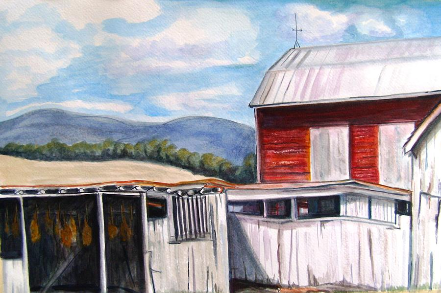 Barn At Belle Grove Painting By Marsha Hale