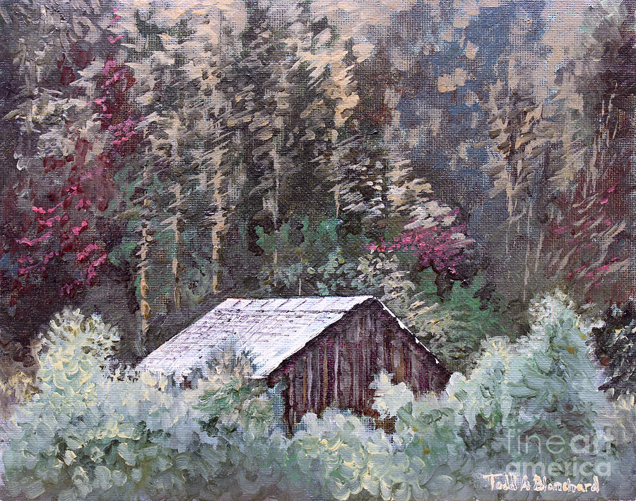 Landscape Painting - Barn At Cades Cove by Todd Blanchard