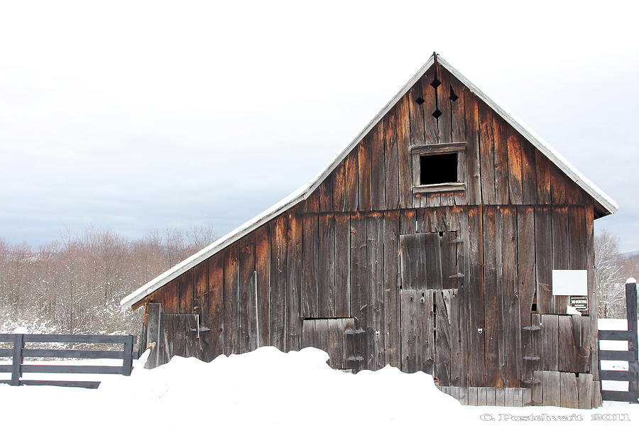 Barns Photograph - Barn at Fairview Farm by Carolyn Postelwait