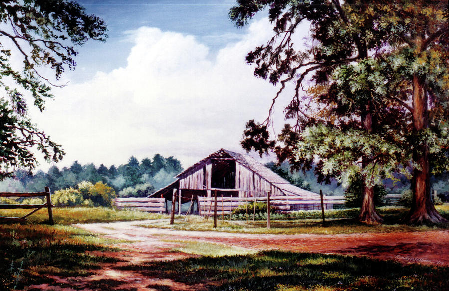 Barn at Honey Island by Randy Welborn