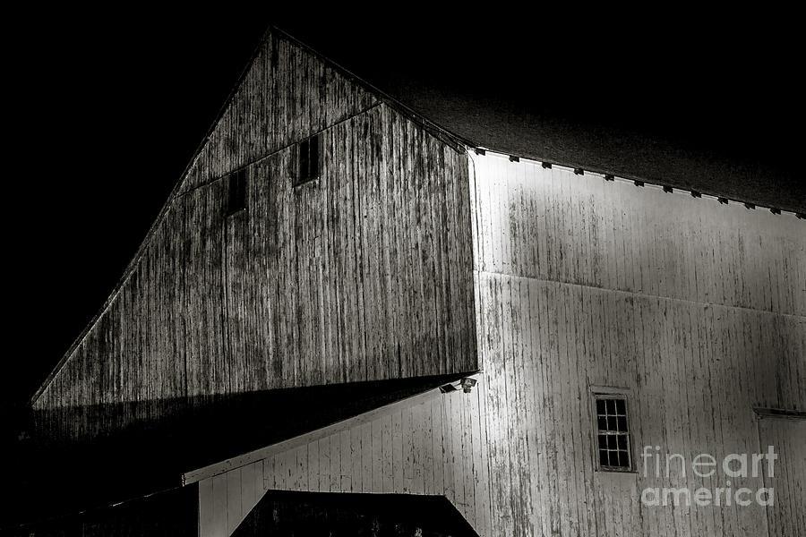 Barn At Night Photograph