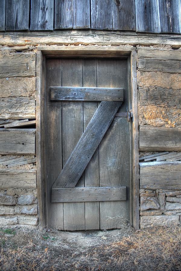 Barn Photograph - Barn Door Letter Z Typography Wood Log Cabin by Jane Linders & Barn Door Letter Z Typography Wood Log Cabin Photograph by Jane Linders