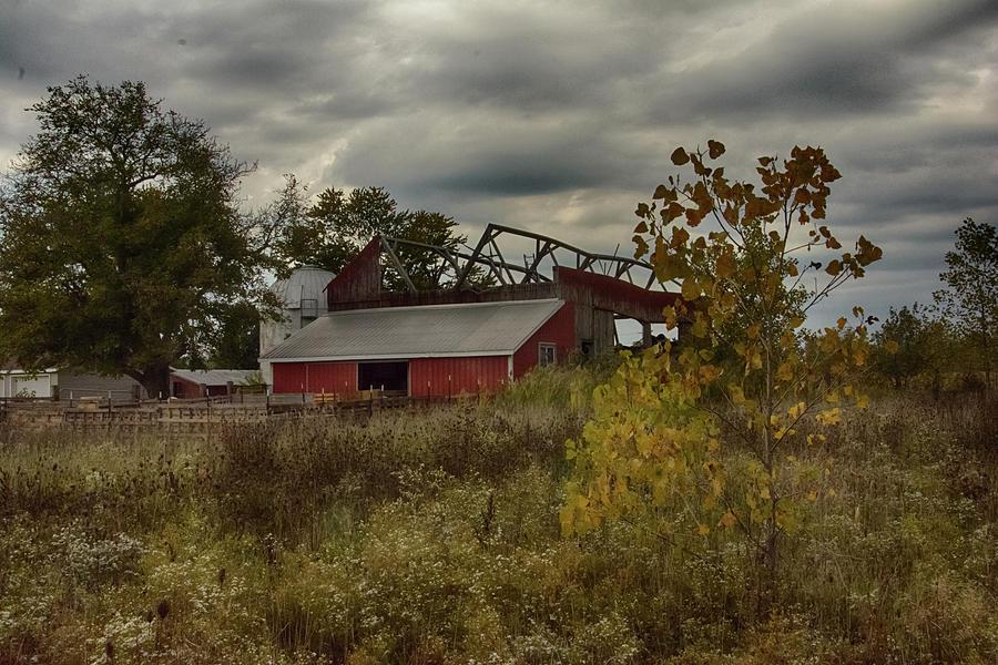 Fall Photograph - Barn by Gaby Swanson