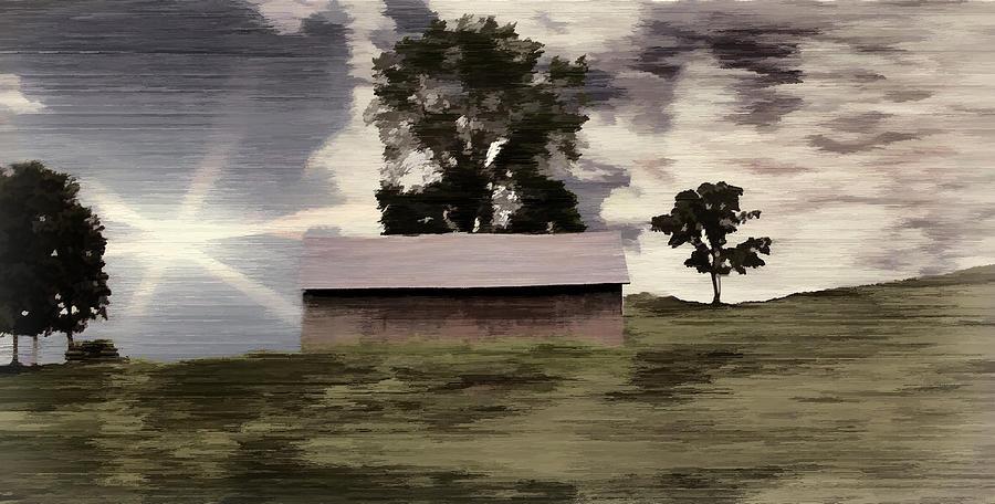 Digital Painting Photograph - Barn II A Digital Painting by David Yocum
