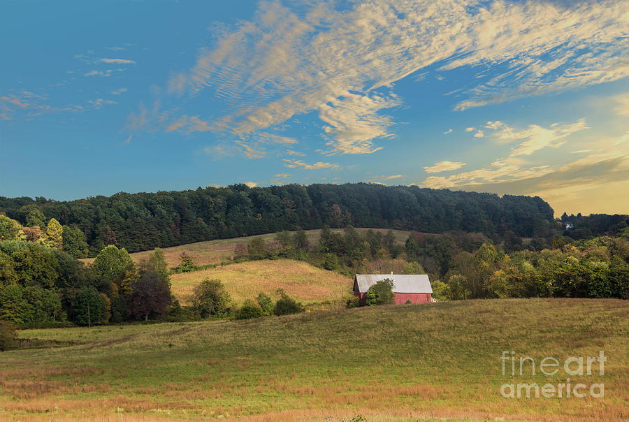 Barn in Field by Malcolm L Wiseman III