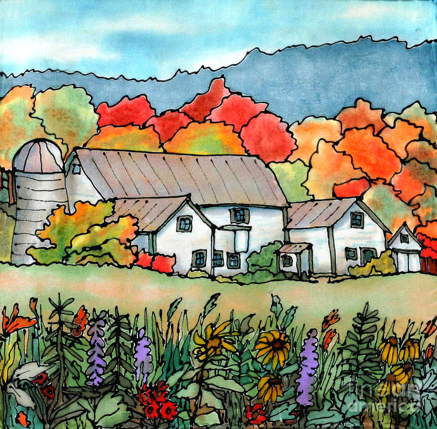 Barn Painting - Barn In Pomfret Vermont by Linda Marcille