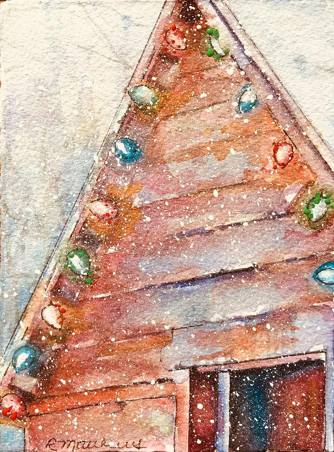 Barn in snow by Rebecca Matthews