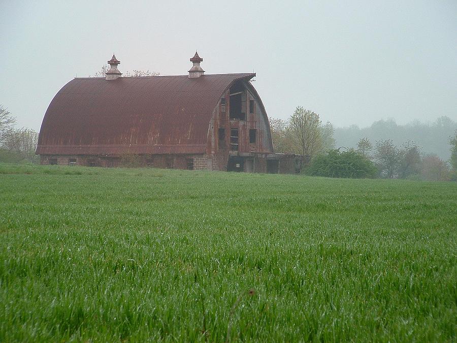Barn Photograph - Barn In Summer by Mark Fuller