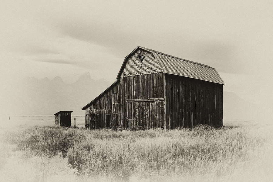 Grand Photograph - Barn In The Grand Tetons by Hugh Smith