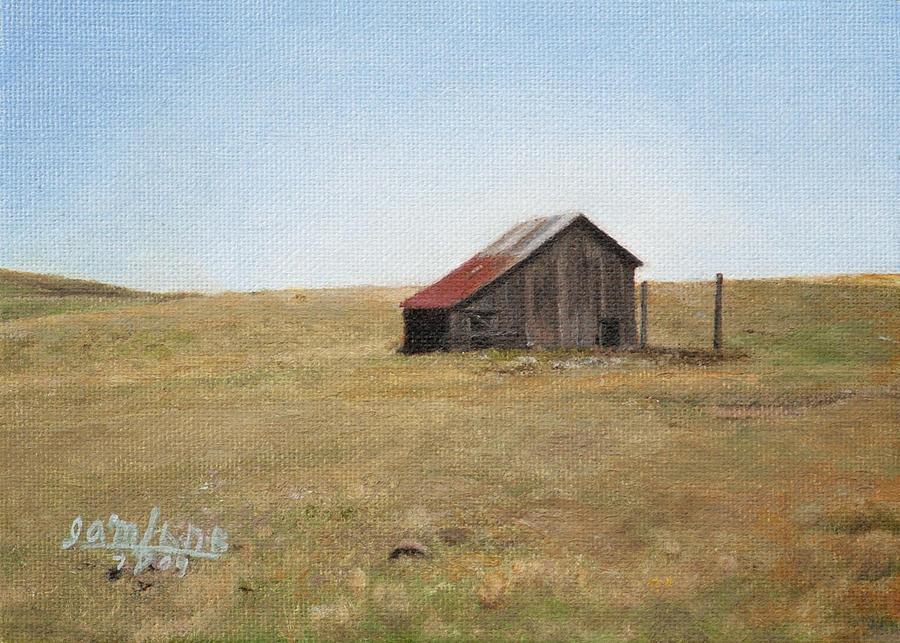 Landscape Painting - Barn by Joshua Martin