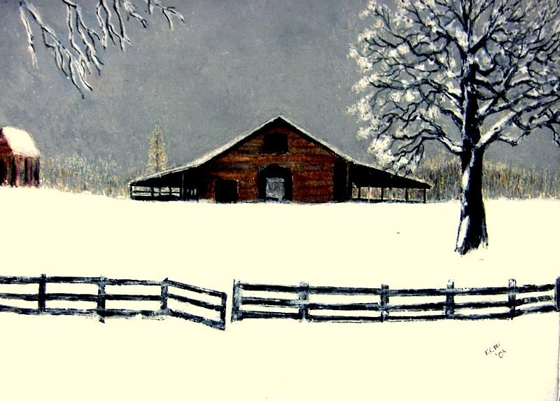 Barn Painting by Kent Whitaker