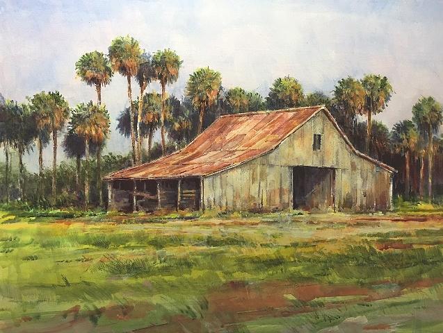 Barn, Lake Okeechobee by Ronald Shelley