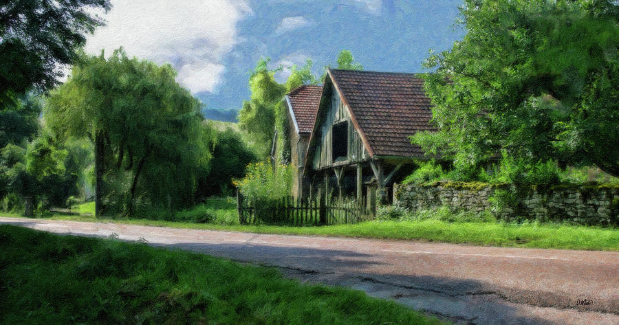 Barn Painting - Barn Near Lac De Panthier - P4a160017 by Dean Wittle