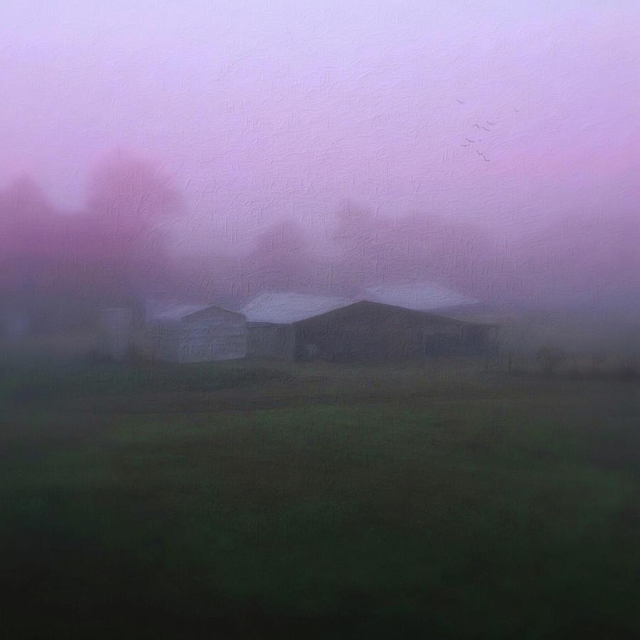 Barn on a Misty Morning by Melissa D Johnston