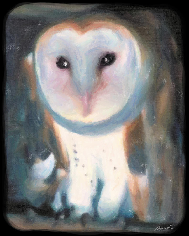 Barn Owl Painting - Barn Owl by The Art of Marsha Charlebois