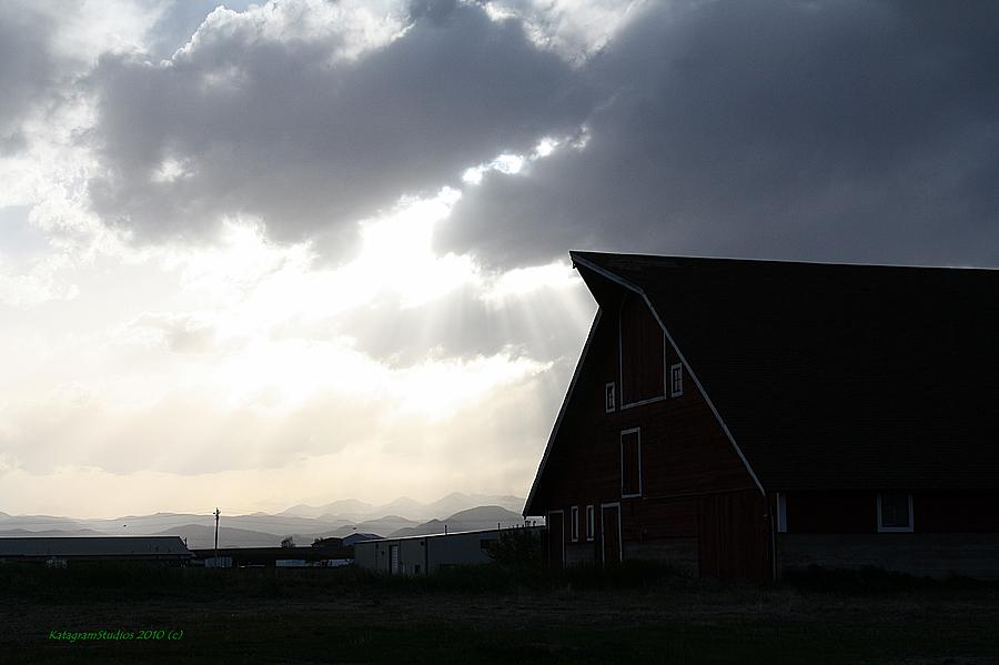 Sunrays Photograph - Barn Rays by KatagramStudios Photography