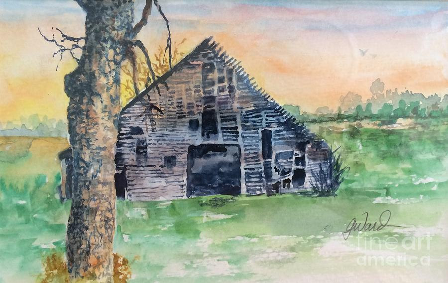 Barn Painting - Barn Study #3 by Glen Ward