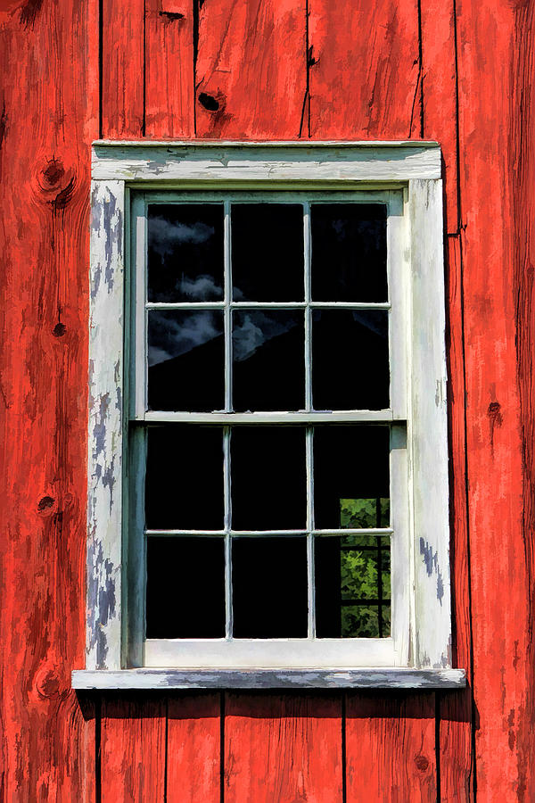 Barn Window Closeup At Old World Wisconsin Painting By