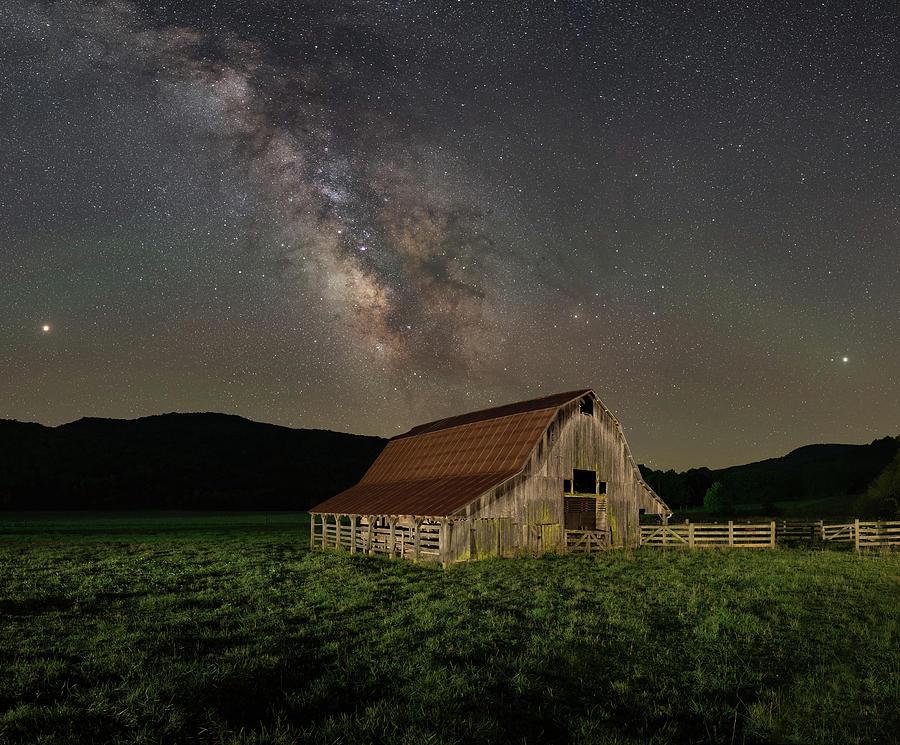 Barn with Candy Bar Sky by Hal Mitzenmacher